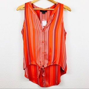 Sanctuary NWT Tie Front Craft Shell Tank in Sarape